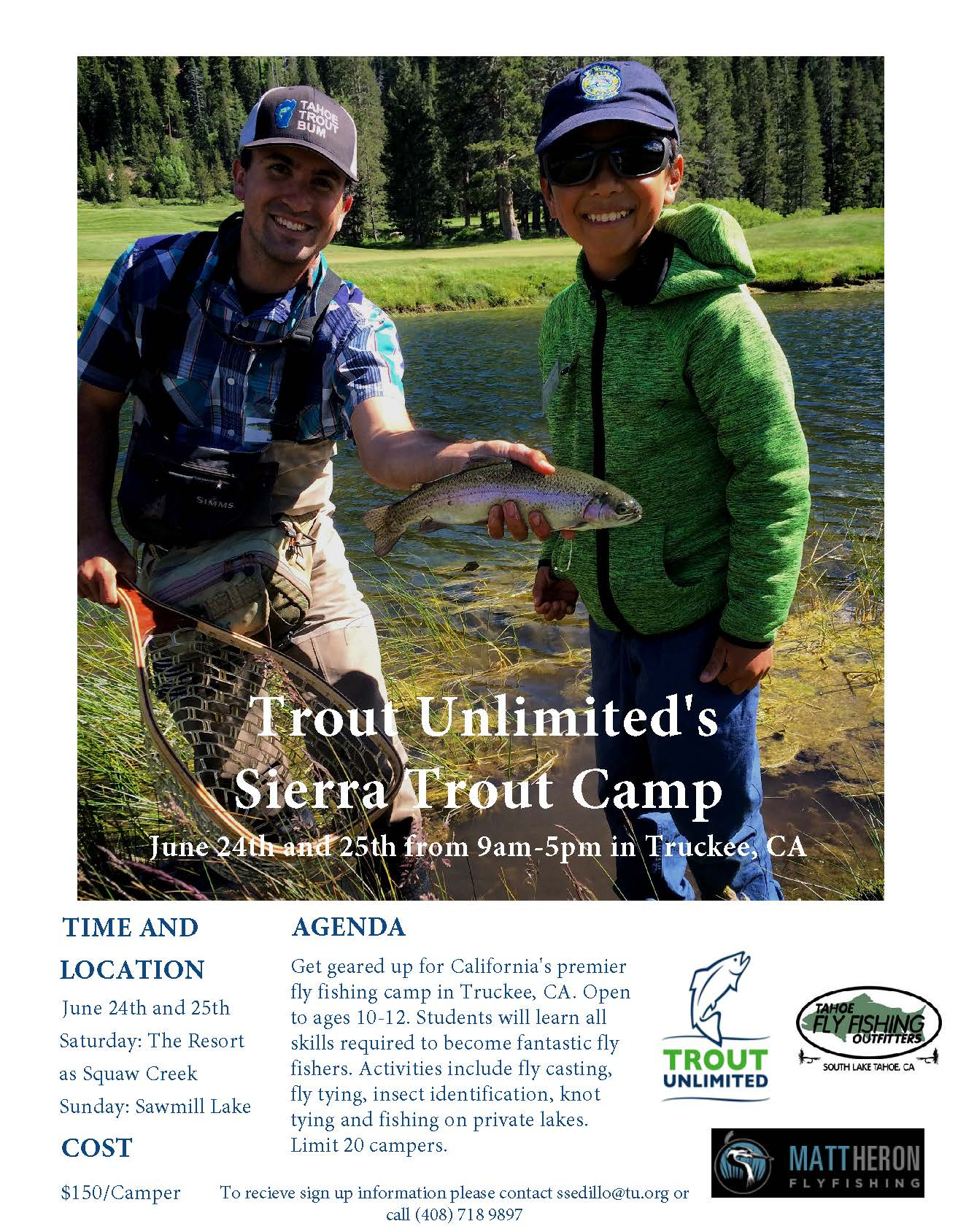 Sierra Trout Camp 2017 flyer